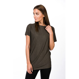 super.natural W's Yoga Loose T-Shirt Killer Khaki Melange